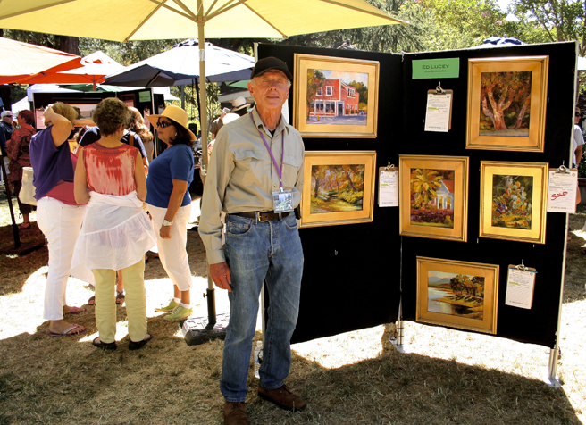 Los Gatos Plein Air 2013 Ed Lucey
