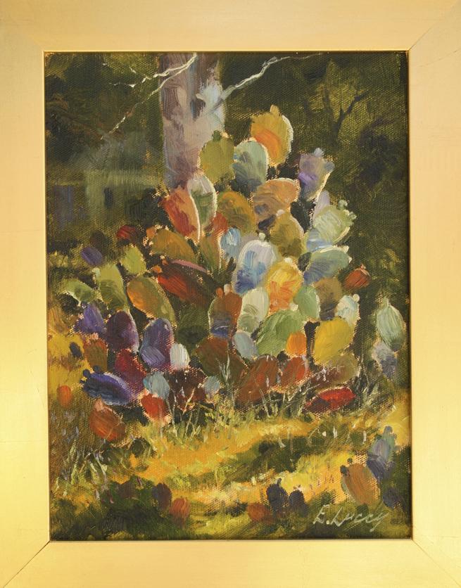 Los Gatos Plein Air 2013 Ed Lucey's cactus painting