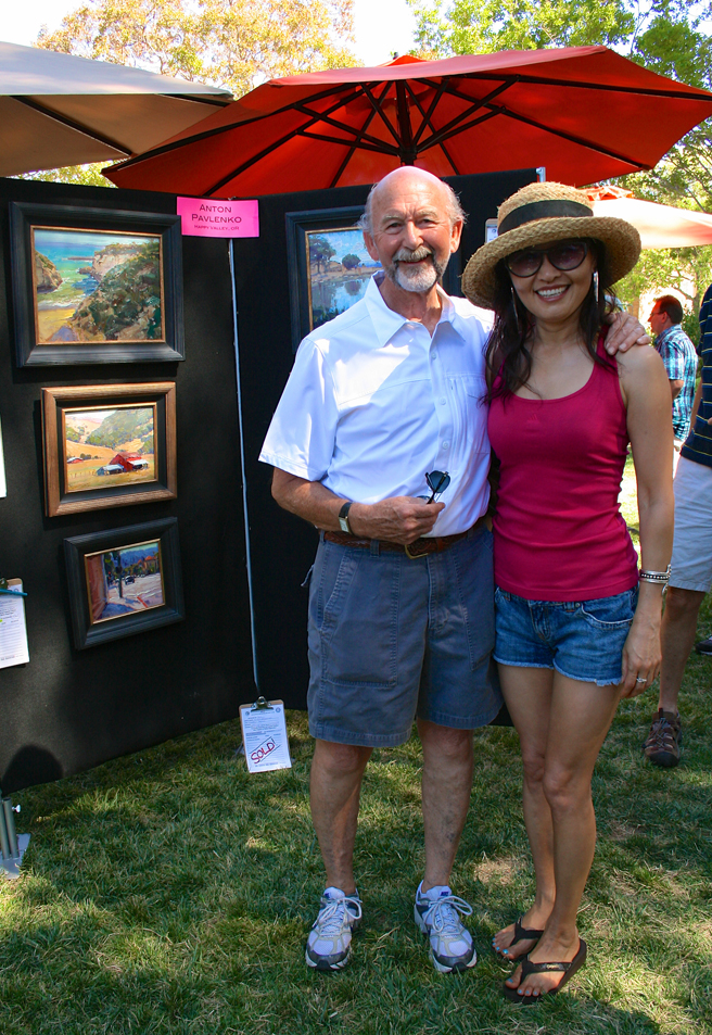 Los Gatos Plein Air 2013 John Ag and Kee Jin