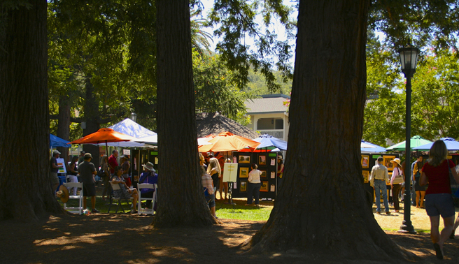 Los Gatos Plein Air 2013 - Town Park Plaza