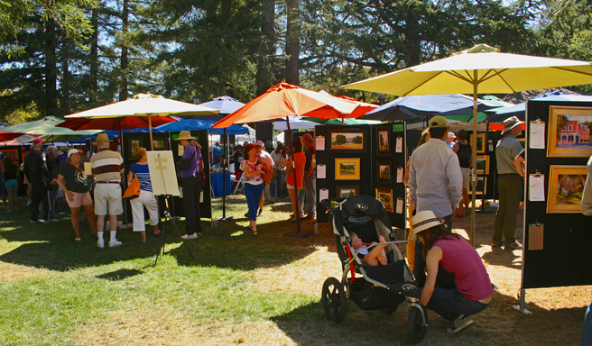 Los Gatos Plein Air 2013 Town Park Plaza