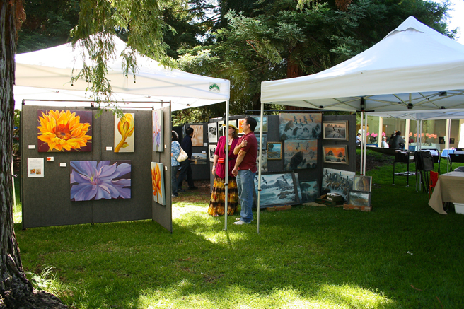 Midsummer Art Festival Triton Artists Tents 2013