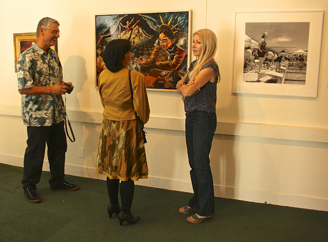 Photographer Ron Dell'Aquila with painter Mei-Ying Dell'Aquila and artist Kristin Lindseth-Rivera