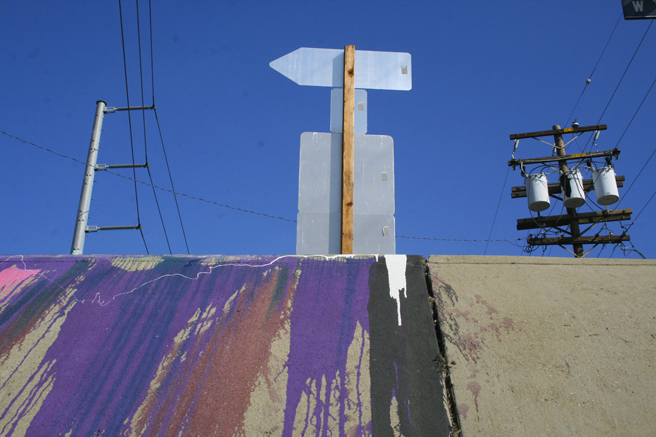 Street Art - Dripping Paint & Pointing Arrow at Stockton & Taylor photo by Marie Cameron 2013
