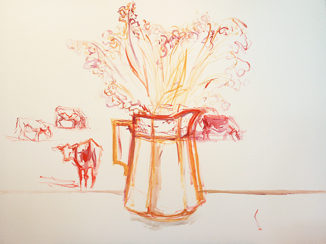 Lily of the Valley and Cows 1- Marie Cameron  2013.jpg