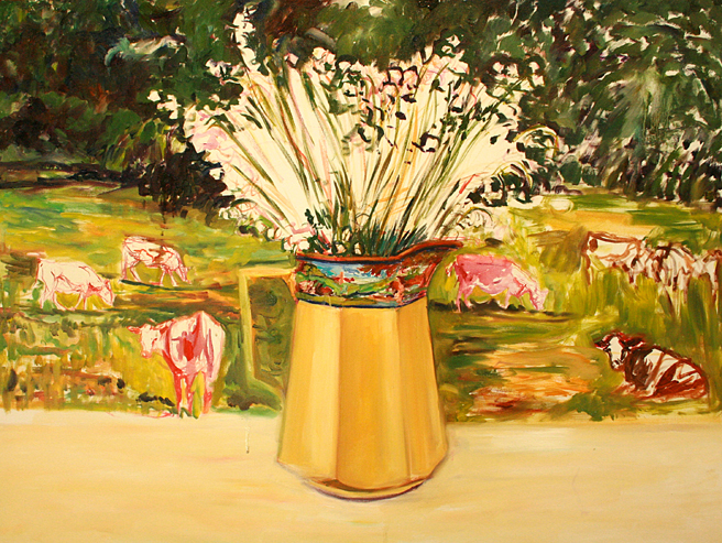Lily of the Valley and Cows 3 - Marie Cameron  2013.jpg