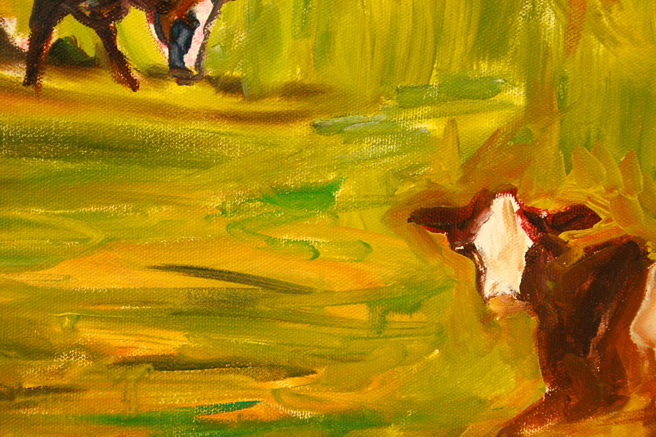 Lily of the Valley and Cows - Marie Cameron detail of cow 2013