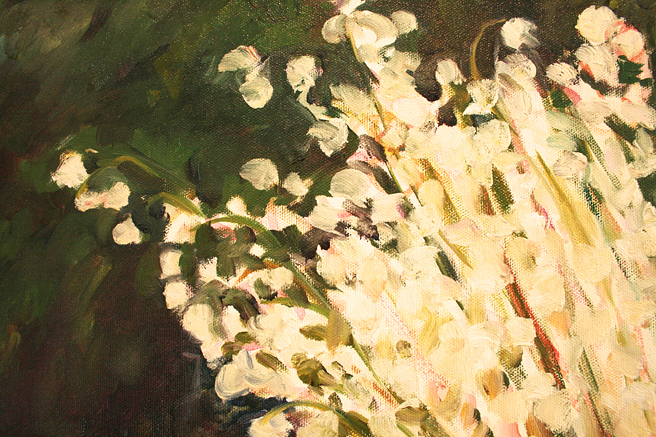 Lily of the Valley and Cows - Marie Cameron detail of flowers 2013