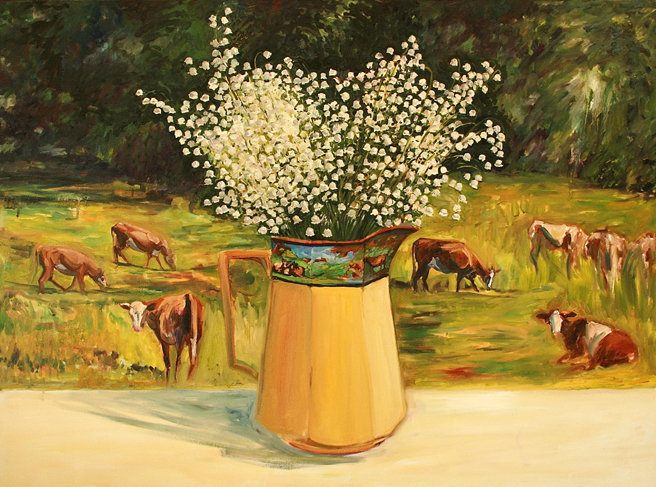 Lily of the Valley with Cows 5 Marie Cameron 2013