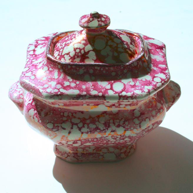 Pink Splatter Lusterware - Sugar Marie Cameron 2013