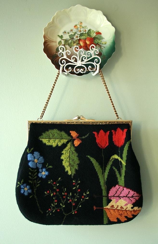 Art of Dressing - Floral Needlepoint Handbag - Marie Cameron 2013