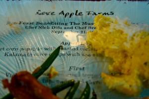Eco Feast at Love Apple Farm -menu- Marie Cameron 2013