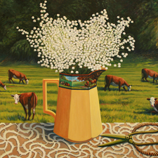 Lily of the Valley with Cows - Marie Cameron - oil 30 x 40 inches 2013 web sm