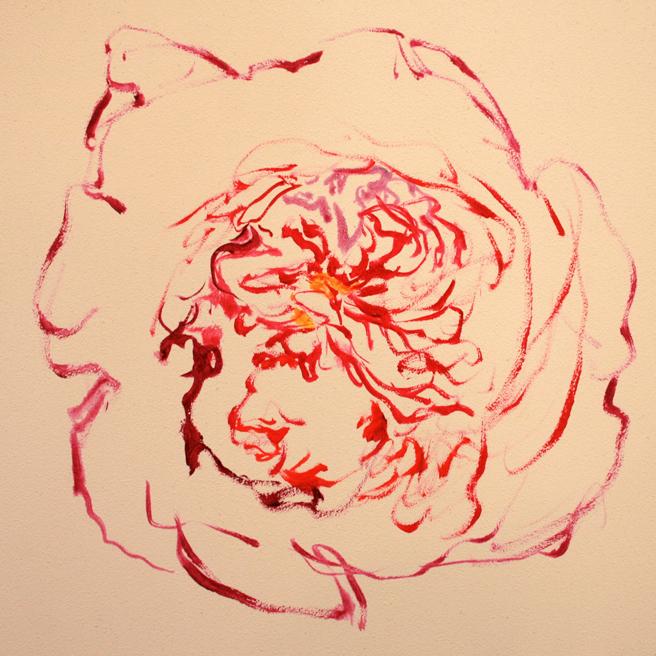 Rose Mandala IV in progress Marie Cameron 2013