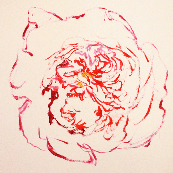 Rose Mandala IV in progress Marie Cameron 2013 1
