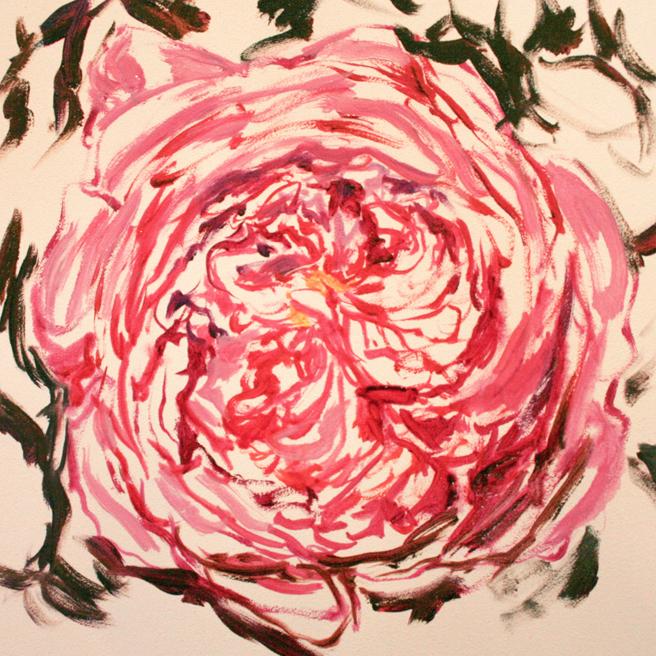 Rose Mandala IV in progress Marie Cameron 2013 2
