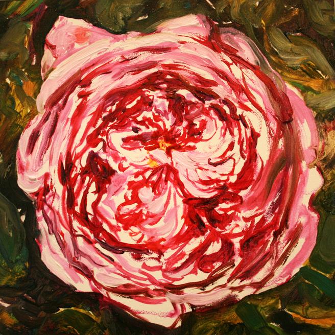 Rose Mandala IV in progress Marie Cameron 2013 4