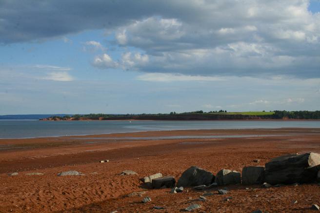 View of the beach near Blomidon Cemetery Marie Cameron 2013