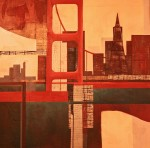 Belinda Lima -  Bridge # 6 - Acrylic, Collage - photo Marie Cameron