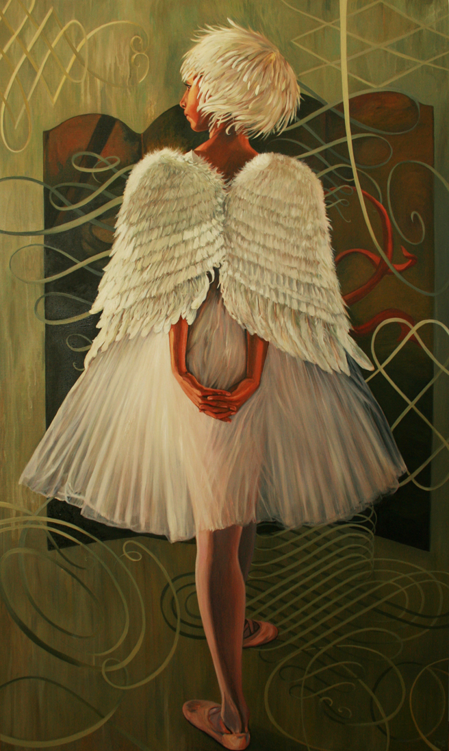Flourish - Marie Cameron - oil on canvas - 60x36in - 2013