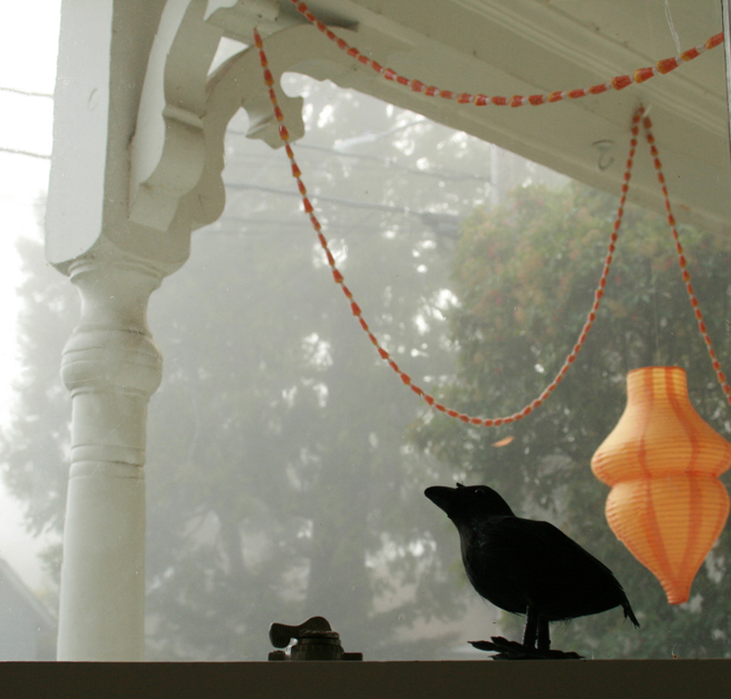 Foggy October Morn - Crow and Lantern- photo Marie Cameron 2013
