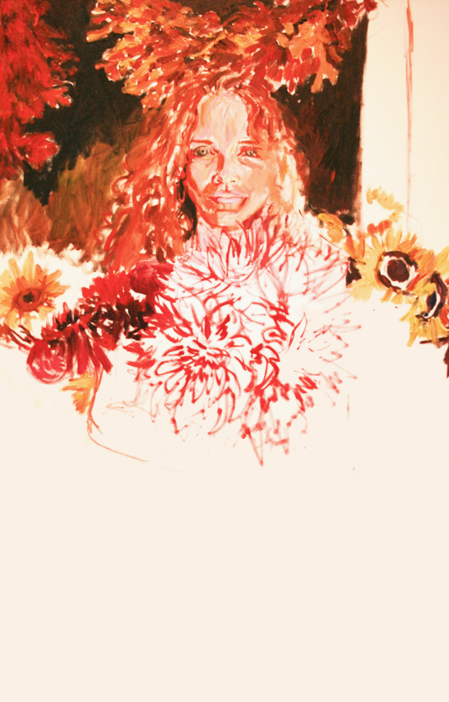 Painting of Bunches in Progress - Marie Cameron 2013 2