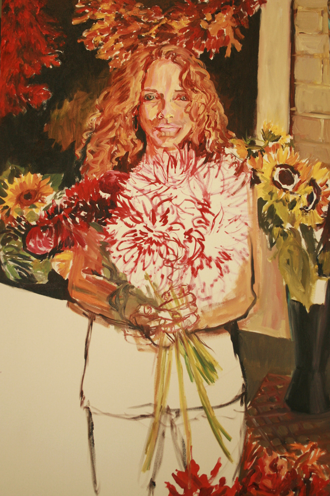 Painting of Bunches in Progress - Marie Cameron 2013 3