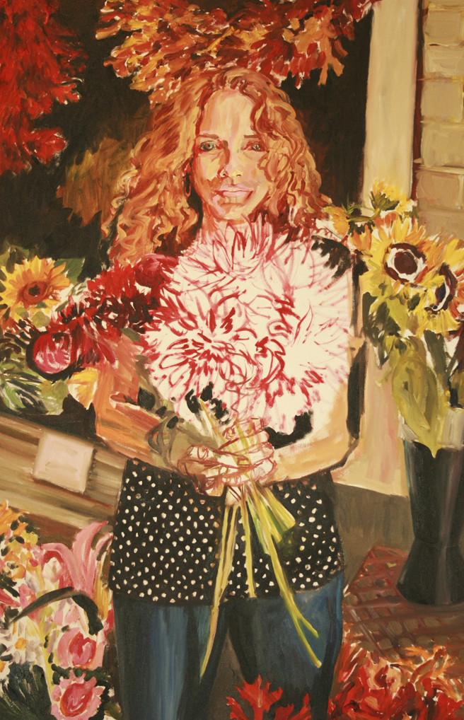 Painting of Bunches in Progress - Marie Cameron 2013 4