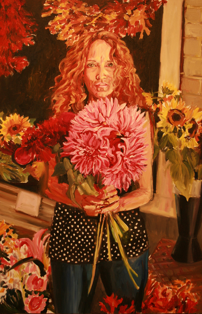 Painting of Bunches in Progress - Marie Cameron 2013 5