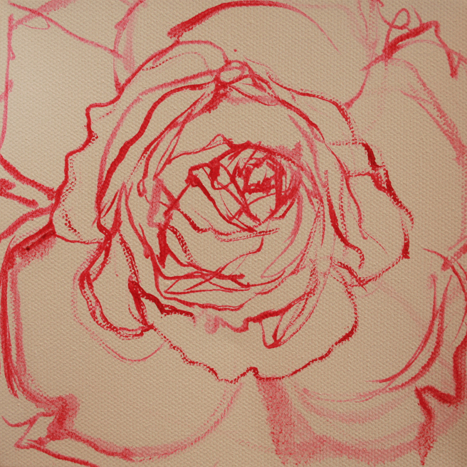 Painting of Rose Petals V- Marie Cameron 2013 1
