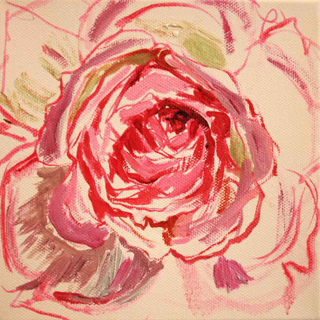 Painting of Rose Petals V- Marie Cameron 2013 2