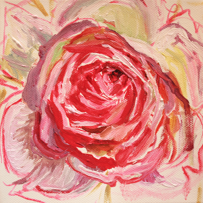 Painting of Rose Petals V- Marie Cameron 2013 3