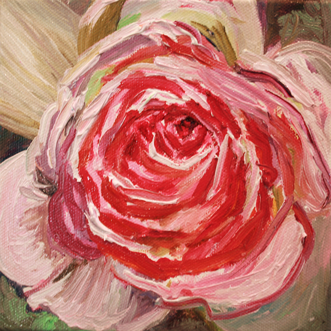 Painting of Rose Petals V- Marie Cameron 2013 4