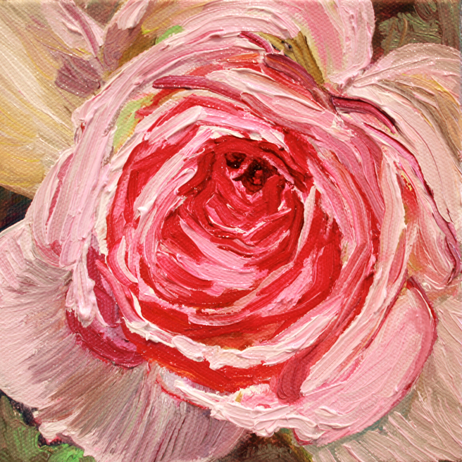 Painting of Rose Petals V- Marie Cameron 2013 5