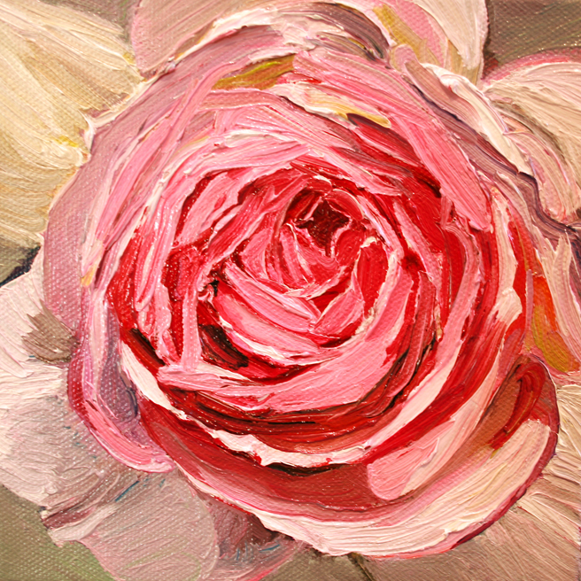 Painting of Rose Petals V- Marie Cameron 2013 6