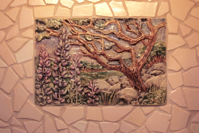 California Landscape tile by Veronica Gross - photo by Marie Cameron 2013