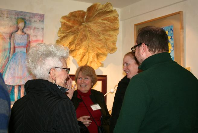 LGMG HR Artists and Guests under a Jeanne Tillman Leaf - photo Isaias Sandoval-Streufert 2013