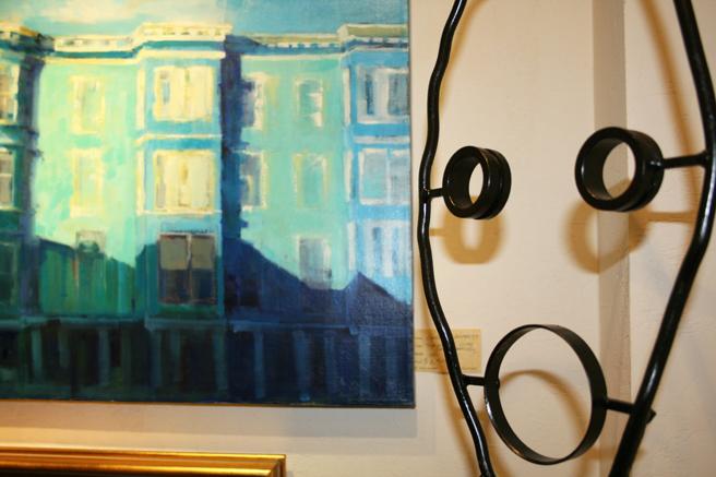 LGMG HR Carol Rafferty's painting and Jeff Owen's sculpture - photo Isaias Sandoval-Streufert 2013