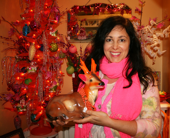Marie Cameron with Orange Antlered Deer