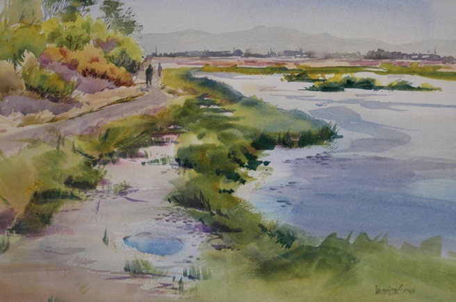 Palo Alto Baylands 3 - Veronica Gross- Watercolor -14 x 20