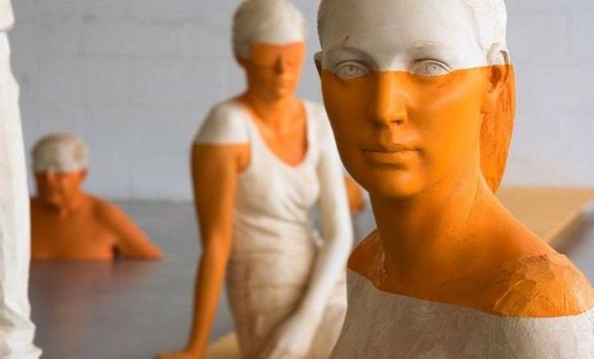 Willy Verginer  Cecitá Voluta - (detail) linden, acrylic 2007