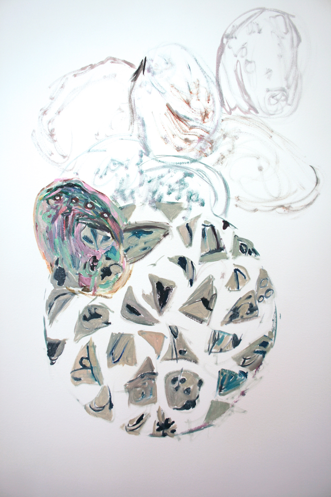 Alones Point Abalone (in progress)  3 - Marie Cameron - 2014