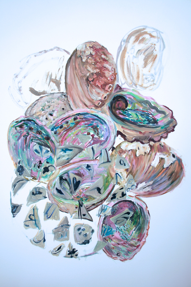 Alones Point Abalone (in progress)  4 - Marie Cameron - 2014