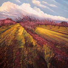Orchard I Saratoga, Marie Cameron, 2014, oil on canvas, 24x24 in web sm