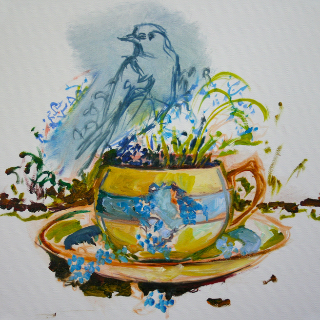 Forget Me Not Tea and Feathers WIP - Marie Cameron 2014 3