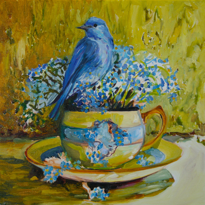 Forget Me Not Tea and Feathers WIP - Marie Cameron 2014 5