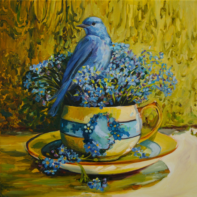 Forget Me Not Tea and Feathers WIP - Marie Cameron 2014 6