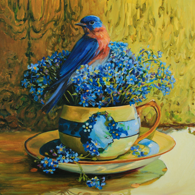 Forget-me-not Tea WIP Marie Cameron 2014 7