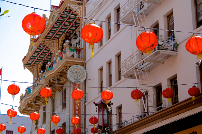 Red Lanterns, China Town - photo Marie Cameron 2014