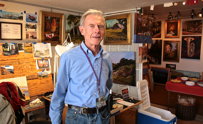 SVOS 2014 - Ed Lucey - Artist in his Studio